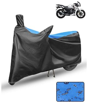FABTCE Waterproof Motorcycle/ Bike Body cover For tvs apache rtr 160 Blue & Black Motorcycle Cover