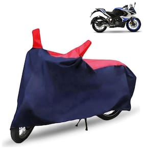 FABTEC Bike/Motorcycle Body Cover For Bajaj Pulsar Rs200 Red & Blue Cover
