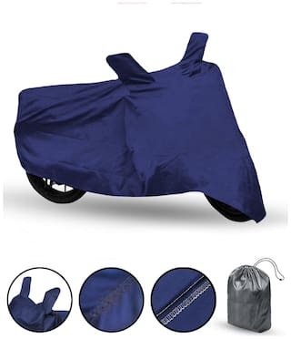 FABTEC Bike Body Cover For Honda Livo Motorcycle Cover With Storage Bag (Blue)