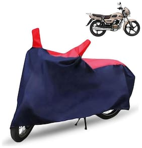 FABTEC Bike/Motorcycle Body Cover For Tvs Radeon Red & Blue Cover
