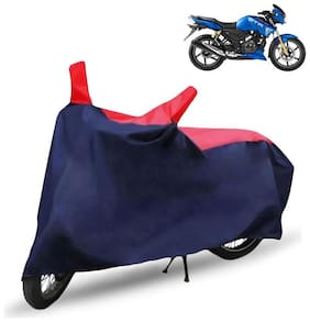 FABTEC Bike/Motorcycle Body Cover For Tvs Apache Rtr 180 Red & Blue Cover