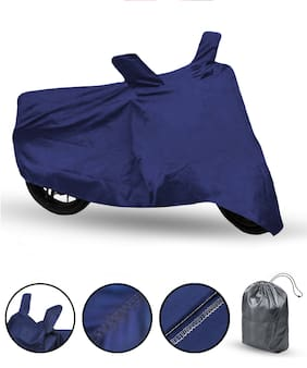 FABTEC Bike Body Cover For Re Himalayan Motorcycle Cover With Storage Bag (Blue)