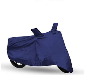 FABTEC Bike Body Cover For Hero Passion X-Pro Motorcycle Cover With Storage Bag (Blue)