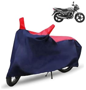 FABTEC Bike/Motorcycle Body Cover For Tvs Star City Red & Blue Cover