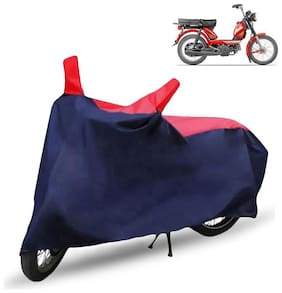 FABTEC Bike/Motorcycle Body Cover For Tvs Xl 100 Red & Blue Cover