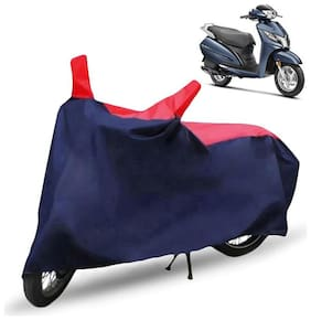 FABTEC Bike/Motorcycle Body Cover For Honda Activa 125 Red & Blue Cover