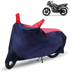FABTEC Bike/Motorcycle Body Cover For Tvs Victor New Red & Blue Cover