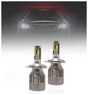 Fabtec C6 36W/3800LM All In One Compact Design LED Headlight Conversion Kit for Cars 6000K (Set of 2 pc) (9005/HB3/H10)