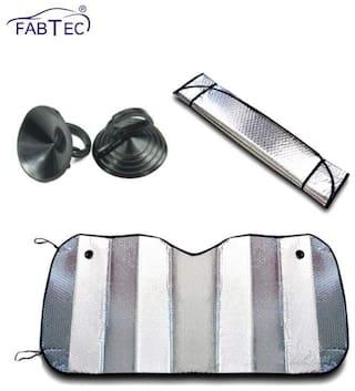 Fabtec Car Sun Shade (Set of 1 Aluminum foil)
