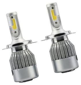 C6 H-4 LED Headlight 36W/3800LM Conversion Kit Car High/Low Beam Bulb Driving LA 6000K of (2 Pcs) For SKODA LAURA