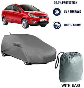 Car cover Tata Zest Heavy Duty Material Car Body cover with Mirror & Antenna Pockets with Free Storage bag  !