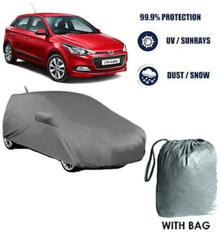 Car cover Hyundai Elite i20 Heavy Duty Material Car Body cover with Mirror & Antenna Pockets with Free Storage bag  !