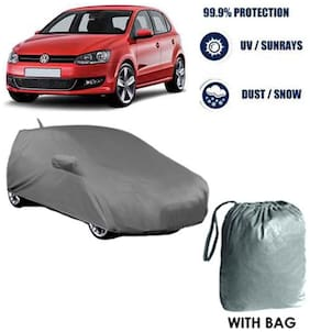 Car cover Volkswagen Polo Heavy Duty Material Car Body cover with Mirror & Antenna Pockets with Free Storage bag  !
