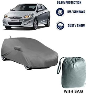 Car cover Hyundai Verna Heavy Duty Material Car Body cover with Mirror & Antenna Pockets with Free Storage bag  !