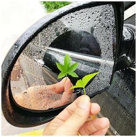 FABTEC Waterproof Rear View Mirror Film Anti Fog Membrane for All Cars (Set Of 2)