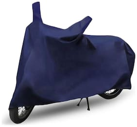 FABTEC Waterproof Bike Body Cover For Hero Passion X-Pro Motorcycle Cover With Storage Bag (Blue)