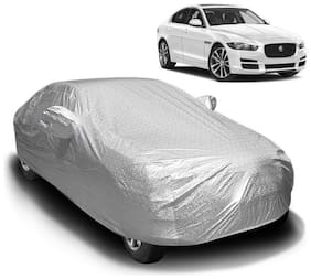 Fabtec Waterproof and Heat Resistant  Mirror Pocket Car Body Cover for Jaguar XE with Soft Cotton Lining (Full Bottom Elastic,Full Sized,Triple Stitched)