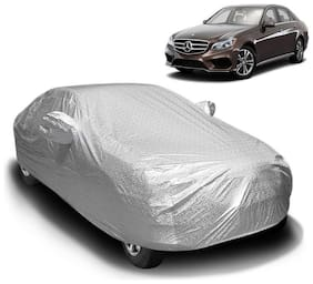 Fabtec Waterproof and Heat Resistant  Mirror Pocket Car Body Cover for Mercedes E 250 with Soft Cotton Lining (Full Bottom Elastic,Full Sized,Triple Stitched)