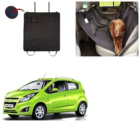 Famista Car Waterproof Pet/Dog Carriers Seat Cover Black With Pocket for Beat Type-2