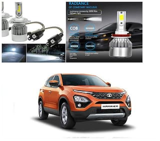 FamistaTM Car C6 H4 Compact Design 36W/3800LM LED Headlight Conversion Kit High/Low Beam Bulb Driving Lamp 6500K (Pack of 2) White for Tata Harrier 2019