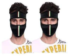 Fashno Full Face Mask (Set of 2) (Black)