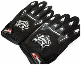 Fashno Knighthood Full Black Color Riding Gloves