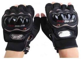 Favourite BikerZ Half Probiker Gloves Color - Black L