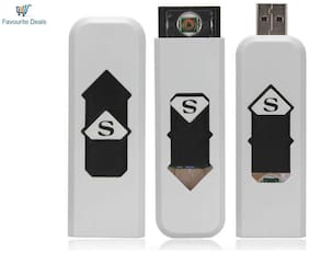 Favourite Deals Windproof Electronic Lighter (White)