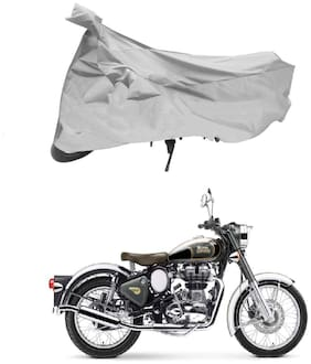 FAYANA Royal Enfield Classic 350 Silver Bike Body Cover