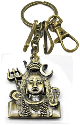Faynci Bholenath Mahadev Hook Antique Golden Hook Key Chain Gifting for Friend and Family