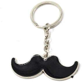Faynci Black Mustache Charm High Quality Stainless Steel Key Chain