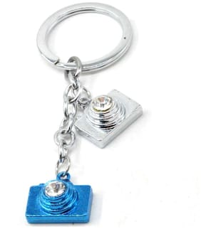 Faynci High Quality Twin Camera universal Stainless Steel Key Chain for Gifting for Valentine Day/Birthday/Friendship Day