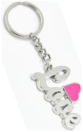 Faynci Love with Pink Heart Stylish Key Chain Gifting for Valentine Day/Birthday /Friendship