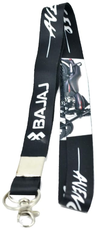 Faynci Quality Fabric Double Sided Bajaj Bike Logo Hook Key Chain for Bajaj Bike Lover