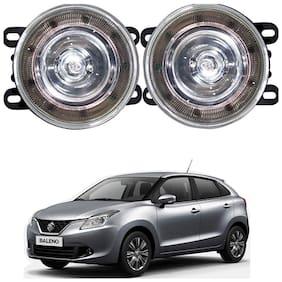 Feelitson Car 9Led Drl Halogen Fog Lamp Light Assembly Set Of 2 For Baleno New