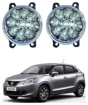 Feelitson Car 9Led DRL Fog Lamp Light Assembly Set of 2 for Baleno New