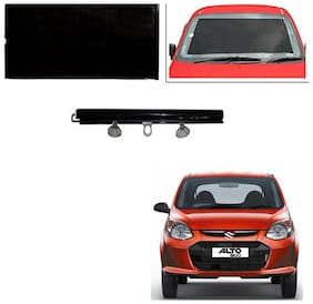 Feelitson Car Front/Rear Roll Up Type Horizontal Roller Film Windshield Sunshade/Curtain with UV Protection 1 pc Black For Alto 800 Type-1