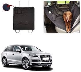 Feelitson Car Waterproof Pet/Dog Carriers Seat Cover Black With Pocket for Q7