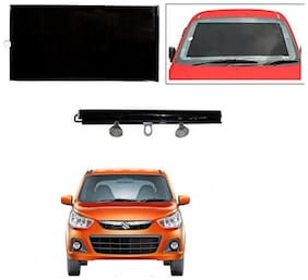 Feelitson Car Front/Rear Roll Up Type Horizontal Roller Film Windshield Sunshade/Curtain with UV Protection 1 pc Black For Alto K10 Old