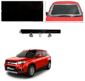 Feelitson Car Front/Rear Roll Up Type Horizontal Roller Film Windshield Sunshade/Curtain with UV Protection 1 pc Black For Brezza