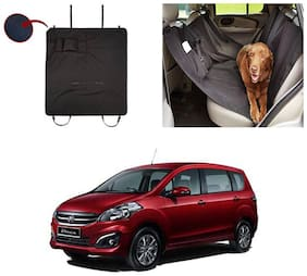 Feelitson Car Waterproof Pet/Dog Carriers Seat Cover Black With Pocket for Ertiga Old