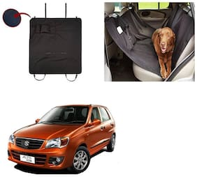 Feelitson Car Waterproof Pet/Dog Carriers Seat Cover Black With Pocket for Alto K10