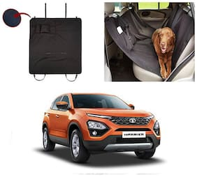 Feelitson Car Waterproof Pet/Dog Carriers Seat Cover Black With Pocket for Harrier 2019
