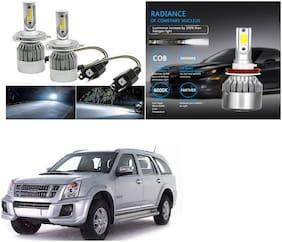 Feelitson Car C6 H4 Compact Design 36W/3800Lm Led Headlight Conversion Kit High/Low Beam Bulb Driving Lamp 6500K (Pack Of 2) White For Isuzu Mu 7