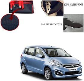 Feelitson Car Waterproof Pet/Dog Carriers Seat Cover Black and Red for Maruti Suzuki Ertiga New