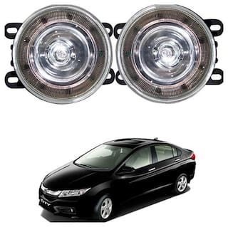Feelitson Car 9Led Drl Halogen Fog Lamp Light Assembly Set Of 2 For Idtec