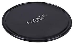 Fixate Round Anti Slip Silica Gel Skid Proof Pad Mat Mobile Phone Holder for Car Dash Board   Desks   Study Table - Classic Black