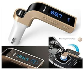 Fleejost Carg7 Bluetooth Transmitter In-Car FM Adapter Kit with Tf Card U-Disk Reading and USB Car Charger