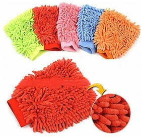 Flomaster - Multipurpose Microfiber Cleaning Glove Cloth Double Sided