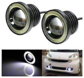 FOG LIGHT WHITE LIGHT 3 HIGH POWER LED PROJECTOR FOG LIGHT COB WITH WHITE ANGEL EYE RING 10W SET OF 2;LED PROJECTOR WITH White HALO RING AND 2PCS CLAMP